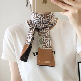 Woman Bag Accessories Australia - BB letters style scarfs fashion woman BB ties silk bag scarfs brand designer headbands retro accessories B3842