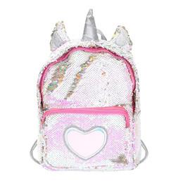 $enCountryForm.capitalKeyWord UK - Cute Women's Backpack Ladies Heart Sequins Backpacks Shiny Shoulder Bag Girl Preppy Schoolbags mochilas feminina sac a dos 2019
