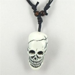 carved yak bone pendants Australia - Wholesale-Free shipping 1pcs Tibetan Yak bone carving skull totem pendant talismans necklace Jewelry
