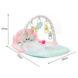 games activities NZ - Pink Baby Gym Play Mat Pad Music Piano Activity Play Toy Game Blanket Fitness Floor Cotton Mats Crawl Carpet with Remote Control