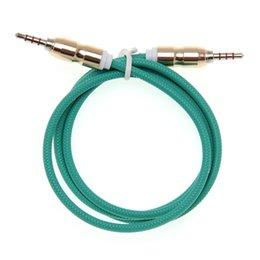 3,5 Jack Audio Kabel Jack 3,5 mm Stecker auf Stecker Bullet Kopf Audio Aux Kabel für iPhone Auto Kopfhörer Lautsprecher 4 Draht Linie Aux Kabel 100st im Angebot