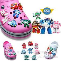 Shoe Accessories 100pcs Novelty Cute Boys Car Cartoon Pvc Shoe Charms Fit Bracelets Jibz Croc,shoe Accessories Ornamnts Flower,kids Party Gifts