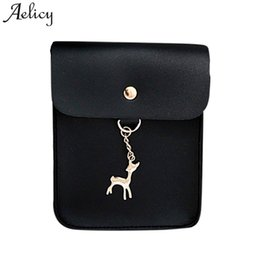 Deer White Pendant NZ - Cheap Fashion Aelicy Women's Vintage Small Deer Pendant Leather Crossbody Bags 2019 New Design Hasp Bag Female Leather Our Brand Luxury Soft