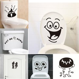 Bathroom Funny Wall Stickers Australia - Funny Smile Bathroom Wall Stickers Toilet Home Decoration Waterproof Wall Decals For Toilet Sticker Decorative Poster Home Decor D19011702