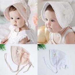 Baby Bonnet Sun Hat Australia - 2019 Cute Newborn Toddler Baby Girl Flower  Princess Sun Hat 3444306cecf8