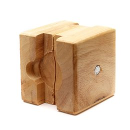 Vise Tool Australia - Wooden Vise Adjust Watch Case Holder Watchmaker Square Mini Movement Repair Tool Vintage Opener Clamp