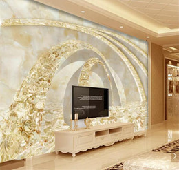 golden time 2020 - Custom Photo 3D Wallpaper Stereo concave-convex Golden time tunnel modern marble background wall papel de parede discoun
