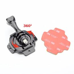 Wholesale 360 Degree Rotating Helmet Mount 3M Adhesive Sticker for Gopro Hero 7 6 5 XIaomi Yi SJCAM SJ4000 SJ5000