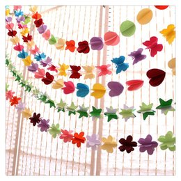 $enCountryForm.capitalKeyWord NZ - Birthday Decor Colorful Paper Garland Banner for Home Party Decoration Nursery Christening Brand New And High Quality