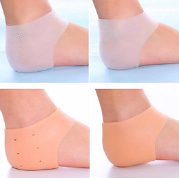 Foot cracked heel online shopping - 1000pcs Silicone Foot Care Tool Moisturizing Gel Heel Socks Cracked Skin Care Protector Pedicure Health Monitors Massager