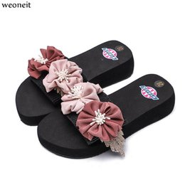 $enCountryForm.capitalKeyWord Australia - Weoneit Little Girls Flip Flops Adult Flower Flat Slippers Summer Shoes Big Girl and Students Flowers Beach Sandals Dropshipping