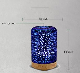 $enCountryForm.capitalKeyWord UK - 3D LED Lights Oil Diffuser Ultrasonic Cool Mist Aromatherapy Humidifier 16 Color Changing Starburst Light Lamp 100ML Humidifier