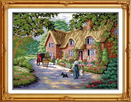 $enCountryForm.capitalKeyWord Australia - Life in countryside home decor painting ,Handmade Cross Stitch Embroidery Needlework sets counted print on canvas DMC 14CT  11CT