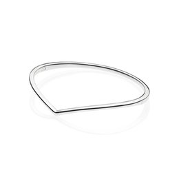 $enCountryForm.capitalKeyWord Australia - 2019 New Spring Silver 925 Jewelry Shining Wish Silver Bangle Smooth Charm Fashion Bangles Bracelets for Women Accessories