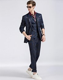 $enCountryForm.capitalKeyWord Australia - XLY 2019 Groom Tuxedo Camouflage Mens Suits Terno Slim Fit Peaked Lapel Costume Blazer 3 pieces Wedding Prom Suit(Jacket+Pants+Vest)
