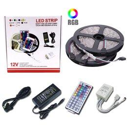 $enCountryForm.capitalKeyWord Australia - DIY LED Strip 5050 RGB Waterproof DC 12V LED Light Strips Flexible Tape add Remote For TV Background Light 5M 10M