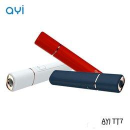 Vente en gros Taille de l'échantillon authentique Chaleur d'origine sans brûlure AYI TT7 Kit vaporisateur portable stylo vaporisateur cigarette électronique ne tire pas pour cartouche chauffante