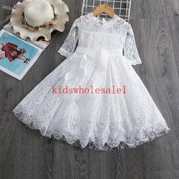 red white blue tutus Australia - White Red Dresses For Christmas Anniversaire Gift Party Frocks Tutu Toddler Kids Prom Gown Dress Children's Clothing