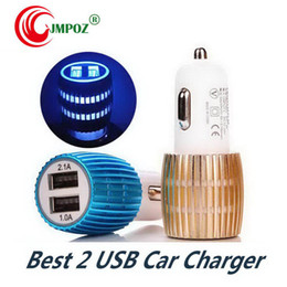 Cell Phone Charger Ports Australia - cell phone car charger dual 2 usb port for ipad samsung Chargeur iphone mobile phones accessories bulk sell free shipping