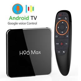 64gb wifi online shopping - Android GB GB Amlogic S905X2 LPDDR4 Smart TV Box Dual Wifi H p K USB3 H96 MAX X2 Google Voice Control