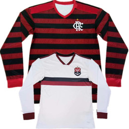 Flamengo Jersey UK - 19 20 Long Sleeve Flamengo Jersey 2019 2020 Flemish GUERRERO DIEGO VINICIUS JR Soccer Jerseys Flamengo New GABRIEL B football shirt