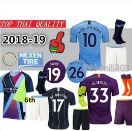 $enCountryForm.capitalKeyWord Canada - 2018 2019 KUN AGUERO home soccer Jerseys kits Best quality 18 19 DE BRUYNE SANE SILVA MAHREZ G.JESUS man Football shirt city uniforms