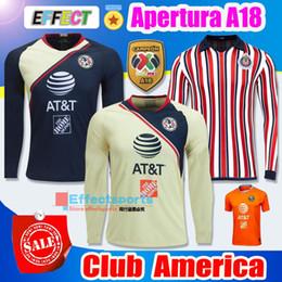 50454907ca1 Perfect Long Sleeve 2018 2019 Mexico LIGA MX Club America Soccer Jerseys  Home Away 18 19 Apertura A18 CAMPEON Thailand AAA+ Football shirts