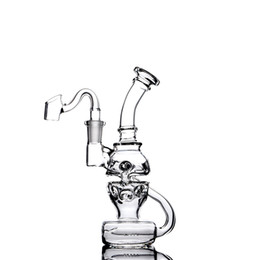 Skull bowlS for Smoking online shopping - Skull Glass Bong Recycler Bong Water Pipes Smoking Waterpipe Heady Glass Dab Rigs With mm Bowl Hookahs For Tobacco