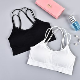 $enCountryForm.capitalKeyWord NZ - Solid color wild beauty back sports underwear thin section without steel ring detachable with chest pad sleep fitness tube top bra