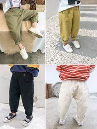Body Tutu Australia - Boy's trousers spring and autumn style baby's body slacks children's radish pants tide boy's spring dress foreign pure cotton