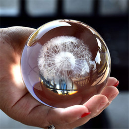 $enCountryForm.capitalKeyWord Australia - Crystal Dandelion Ball Figurine Feng Shui Office Decorative Storm Glass Balls Ornaments Dandelion Statue Crafts Photography Props