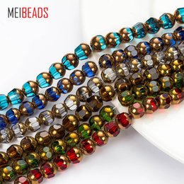 $enCountryForm.capitalKeyWord Australia - Crystal Glass Round Shape Spacer Colorful Crystal Glass Beads Accessories Fit Bracelet Diy Jewelry Making Ey5185