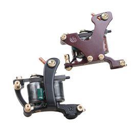 Copper Tattoo Machine Frames Australia - A Pair of Tattoo Guns Liner And Shader Tattoo Machines Alloy Frame Copper Coils Professional Guns WQ4445\49