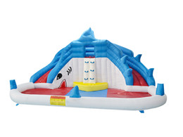 Pool inflatable water slides online shopping - YARD Hot Selling Outdoor Factory Price Residential Inflatable Water Bounce House Water Slide Pool With Blowers