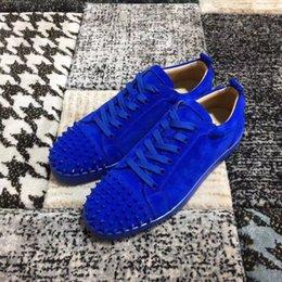 Lüks Tasarımcı Erkekler Kadınlar Için Kırmızı Alt Loafer'lar Hakiki Deri Platformu Rahat Sneakers Üzerinde Kayma Spike Düğün Flats Erkekler Ayakkabı y1604 indirimde