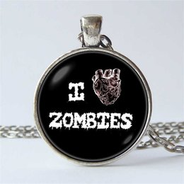 $enCountryForm.capitalKeyWord Australia - Horror Necklace Zombie Pendant Zombie Necklace Post Apocalyptic Dead Heart Necklace Art Zombie Jewelry Walking Dead Horror Jewelry
