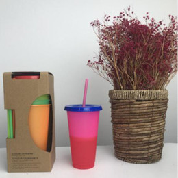 $enCountryForm.capitalKeyWord Australia - 2019 New style Color Changingu plastic tmbler 24oz tumblers Thermochromic cup Color change PP Drinking with lid and straw mugs