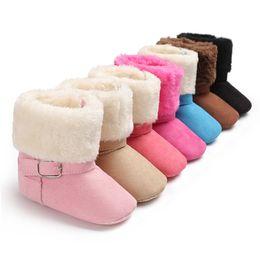 $enCountryForm.capitalKeyWord UK - Winter Boots For Girls Soft Booties Snow Solid Cashmere Boots Toddler Warm Shoes Hot Crib Shoes winterlaarzen voor meisjes@30