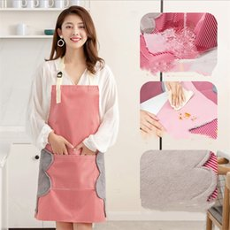 $enCountryForm.capitalKeyWord Australia - Abrasion hand apron waterproof and oil proof home kitchen cooking waist Korean female fashion factory direct sales