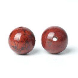 Silver Red Carnelian Australia - TopGoods Natural Stone Beads Red Blood Jasper Gemstone Round Loose Gem Bead 6 8 10mm Dull-red Carnelian For Muslim Rosary Beads