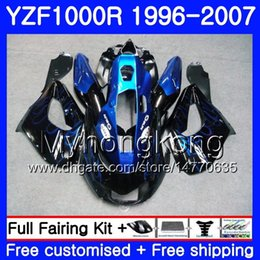 $enCountryForm.capitalKeyWord Australia - Body For YAMAHA Thunderace YZF1000R 96 97 98 99 00 01 238HM.8 YZF-1000R YZF 1000R 1996 1997 1998 1999 2000 2001 Fairings hot Blue flames kit