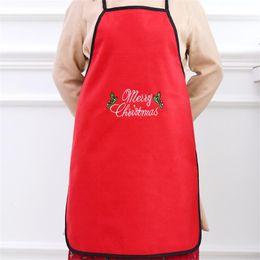 $enCountryForm.capitalKeyWord Australia - 2019 hot sale flannel letters Christmas decoration supplies fabric Christmas apron family padty bar Santa Claus Elf deer