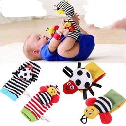 $enCountryForm.capitalKeyWord Australia - Fashion New Cute Infant Baby Cartoon Animal Shape Wrist Rattles Foot Socks Finder Toys New Fashion Wrist Rattles