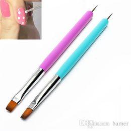 Smt Tools Australia - Wholesale- Hot 2015 New Arrival Promotion 2-Ways Nail Art Pen Painting Dotting Acrylic UV Gel Polish Brush Liners Tool 51OI smt 101
