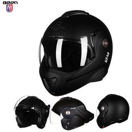 motorcycle helmets black open UK - 180° matte black Flip Motorcycle Helmet Open Full Face Helmet with Detachable And Washable Lining Suitable For Adults 8 Colors