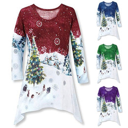 7b1f4f93375402 Womens Printed Christmas T Shirt 2019 New Arrival Long Sleeve T Shirts Hot  Sell Ladies Shirts Casual Crew Neck Women Tops Clothing