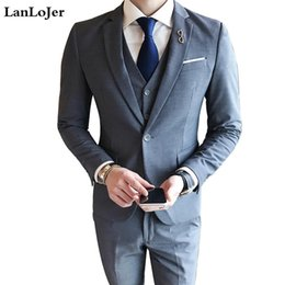 $enCountryForm.capitalKeyWord Australia - Nice Tide Real Fashion Men&s Suits Three-piece Business Professional Western Decoration Body Grooms Groom Wedding Dress Spring