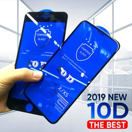 iphone glass screens for sale NZ - Hot Sale 10d all covered temperate glass Apple iPhone 11 Pro XS Max x 8 + 7 6 screen protector 6S se 5S free shipping