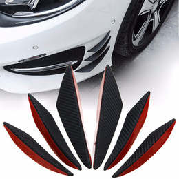 carbon fiber front lip NZ - 6pcs set Carbon Fiber Style Car Front Bumper Lip Splitter Body Spoiler Canards Universal For Cars Exterio Accessories Valence Chin Accessory