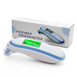 Toptan satış Yonker Tıbbi Ev Kızılötesi Termometre Bebek Yetişkin Tıbbi Kulak Termometre Dijital Ateş Termometre Gun Bebek Led
